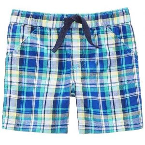 Plaid Cotton Shorts, Baby Boys
