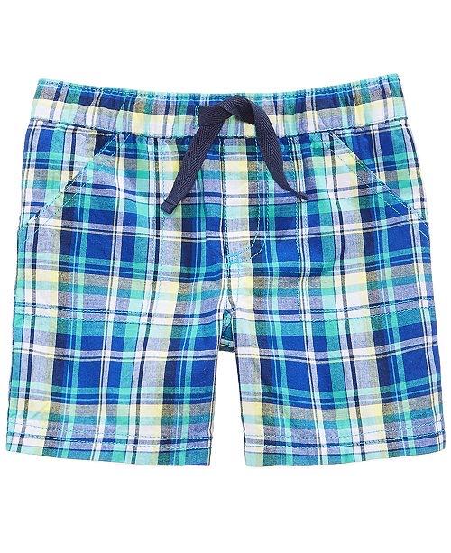 Plaid Cotton Shorts, Baby Boys