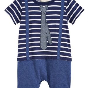 Little Man Cotton Romper,