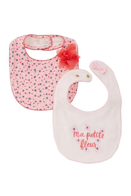 kate spade new york Ma Petite Fleur Bibs – Pack of 2 (Baby Girls)