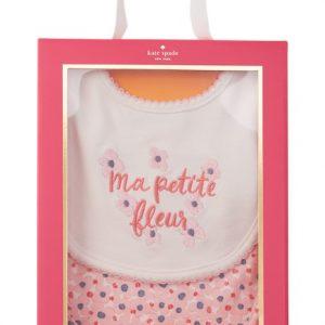 kate spade new york Ma Petite Fleur Bibs - Pack of 2 (Baby Girls)2