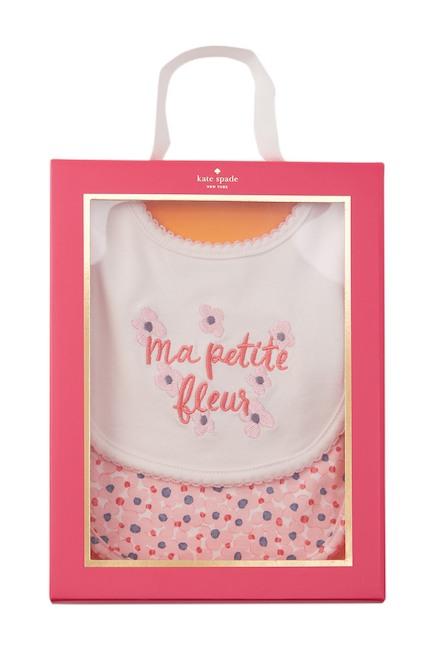 kate spade new york Ma Petite Fleur Bibs – Pack of 2 (Baby Girls)2