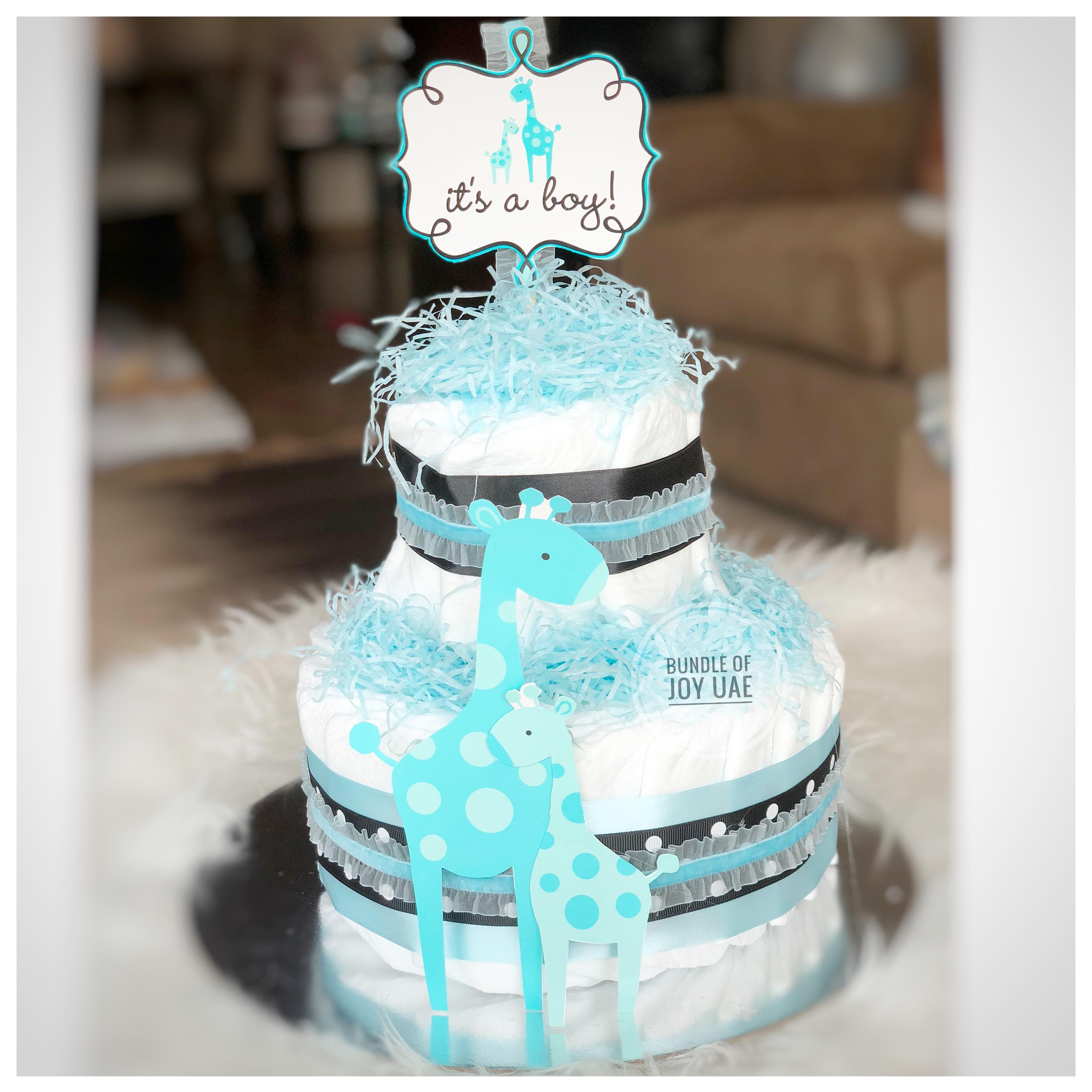 its a boy diapercake
