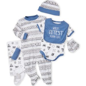 BABY GEAR (Newborn Boys) 9-Piece Printed Gift Set