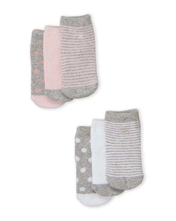 CALVIN KLEIN (Newborn:Infant Girls) 6-Pack Printed Socks