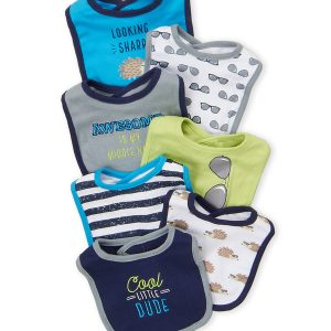 HUDSON BABY (Newborn Boys) 7-Pack Hedgehog Baby Bibs