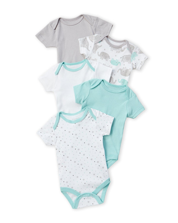 KYLE & DEENA (Newborns) 5-Piece Grow With Me Bodysuit Set