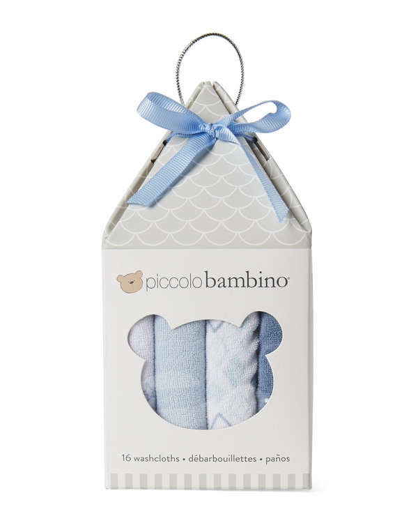 PICCOLO BAMBINO (Newborn:Infant Boys) 16-Piece Assorted Washcloth Set