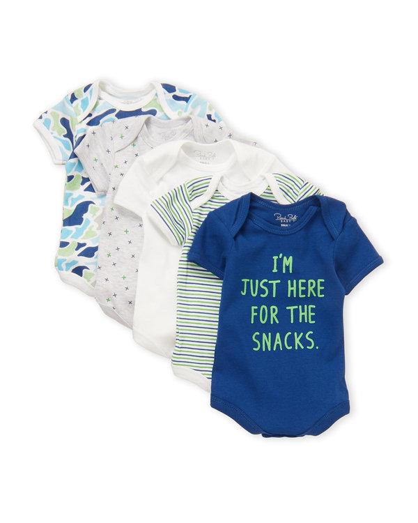 RENE ROFE (Newborn Boys) 5-Pack Bodysuits im here for snacks
