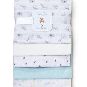 RENE ROFE (Newborn:Infant) 5-Pack Assorted Animal Baby Blankets
