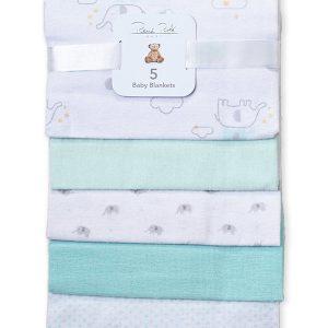RENE ROFE (Newborn:Infant) 5-Pack Assorted Elephant Baby Blankets