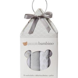 16-Piece Assorted Washcloth Set - Grey PB