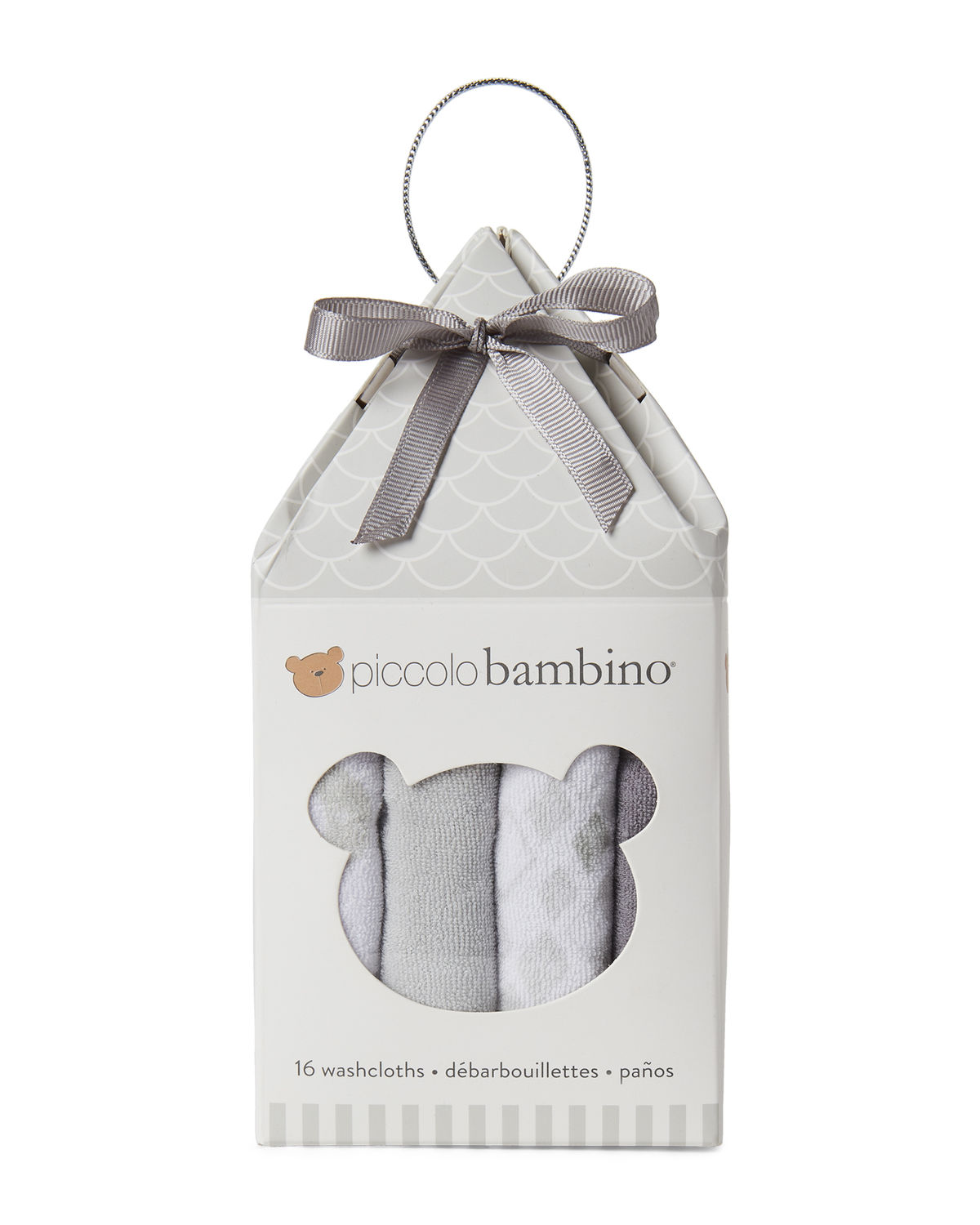 16-Piece Assorted Washcloth Set – Grey PB