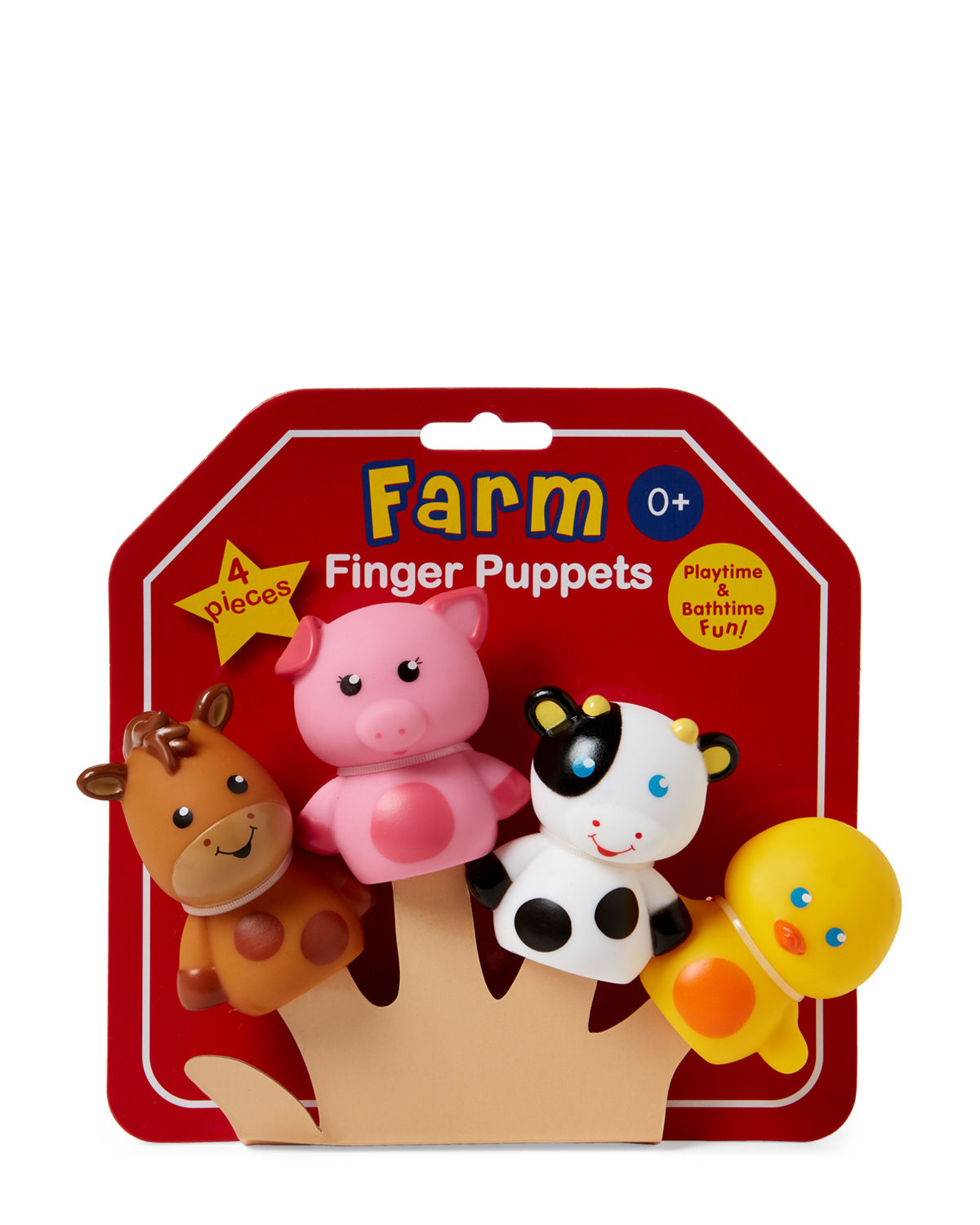 4-Piece Farm Finger Puppets