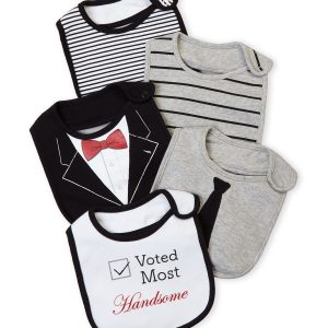5-Pack Most Handsome Bibs