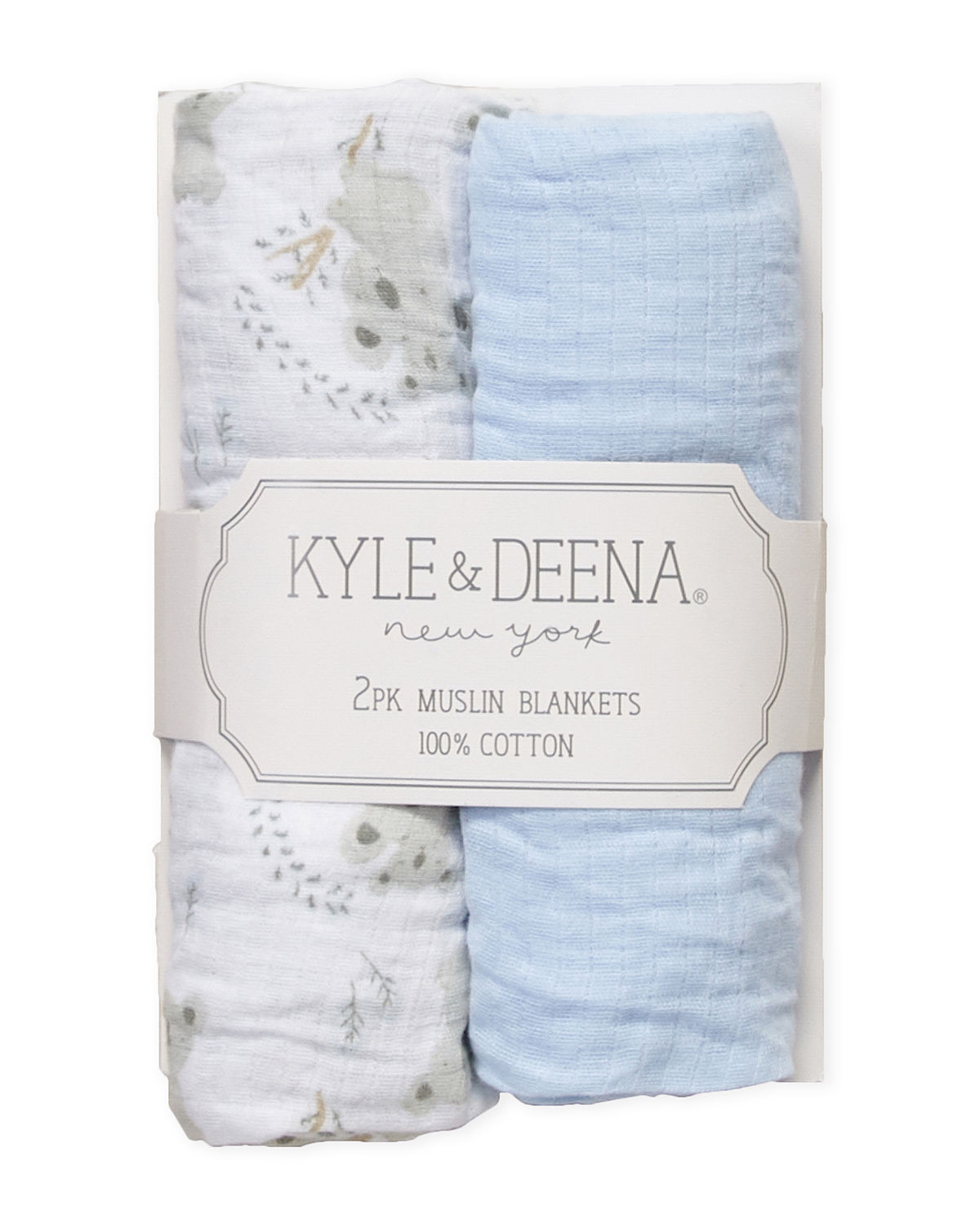 Two-Pack Koala Bear Muslin Blankets