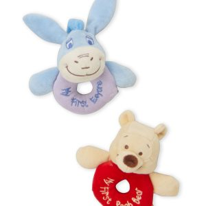 Two-Piece Winnie The Pooh Ring Rattles
