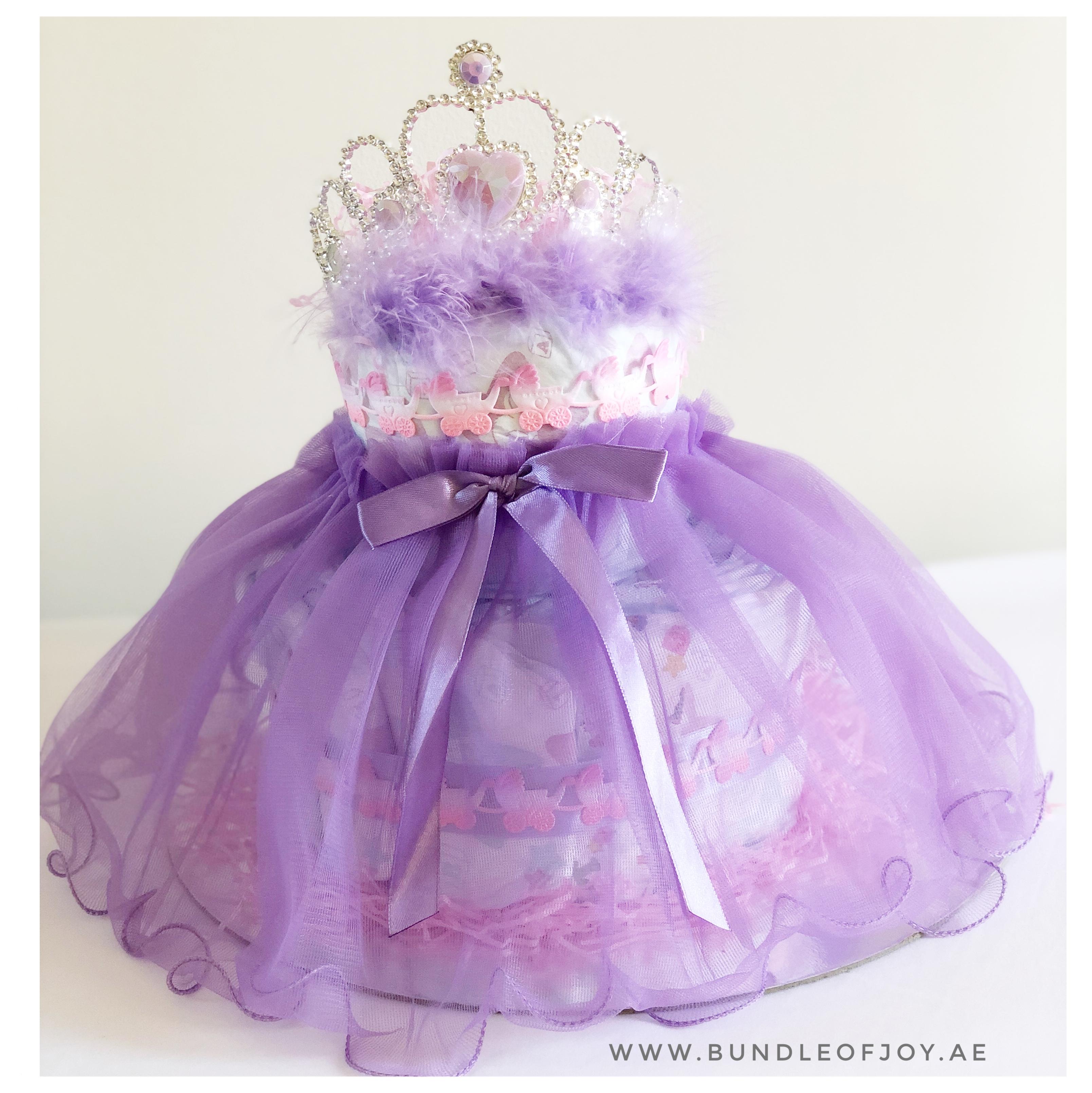babygirl diaper cake