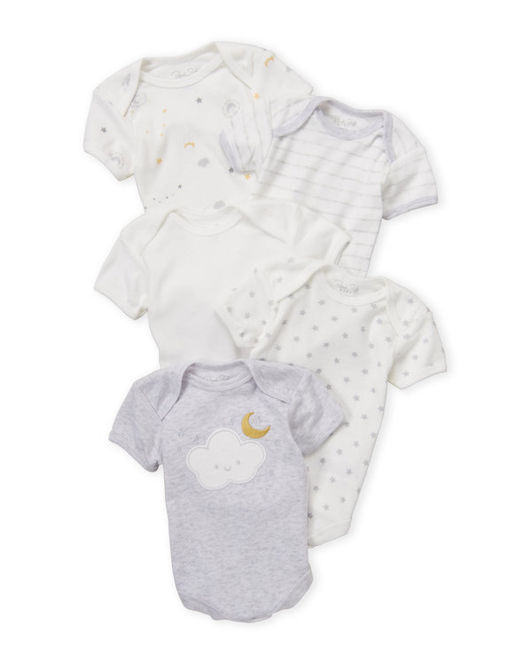 RENE ROFE (Newborn:Infant) 5-Pack Bodysuit Set